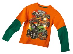 Monster Jam Long Sleeve Tee - Orange (4&7)