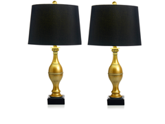Harrison Table Lamp 2-Pack with Shades
