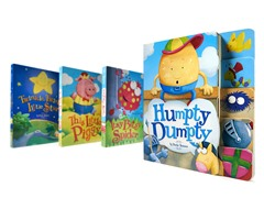 4-Piece Nursery Rhymes Board Books Set