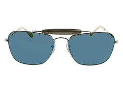 Blue Lens Aviator Sunglasses