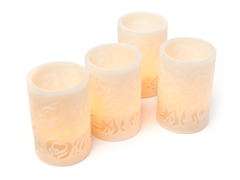 Westinghouse 4-Pc Carved LED Candle Set