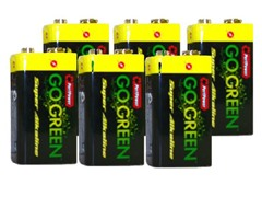 9V Alkaline Batteries - 6 Pack