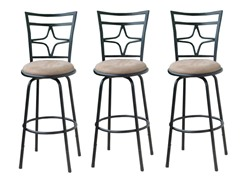TMS Set of 3 Adjustable Height Barstools