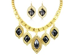 Gold-Plated Smoky Topaz Fancy Set
