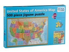 500 Piece USA Puzzle