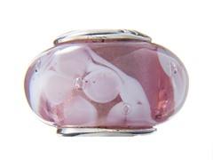 Pink & White Glass Bead