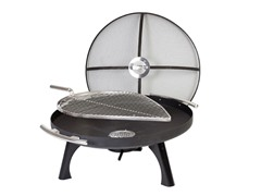 Space 800 Fire Pit, Black/Steel