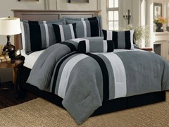 Reham 7pc Comforter Set - Grey - 2 Sizes