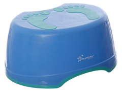 Blue Footprint Step Stool