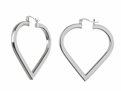18k White Gold Plated Thick Square Hoops