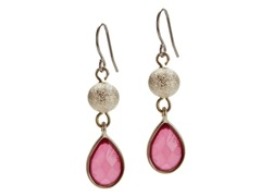 Relic Pink Tear Drop Stone Earring, Gold