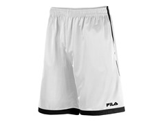 Athlete's Training Shorts, White/Black