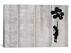 Flying Balloon Girl Canvas Print
