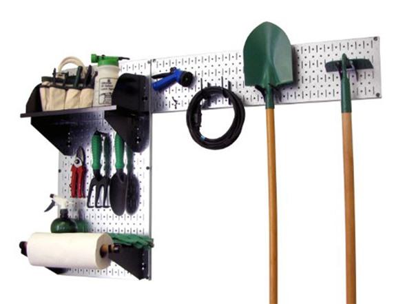 Wall control garden tool organizer kit for Gardening tools organizer