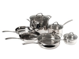 10-Pc. Cuisinart Stainless Cookware Set