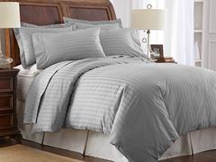 500TC Cotton Duvet Cover Set-Grey-2 Sizes