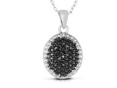 1/4cttw Black Diamond Pendant