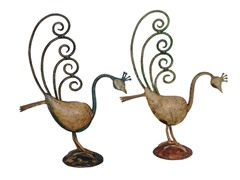Iron Peacock - Set of 2