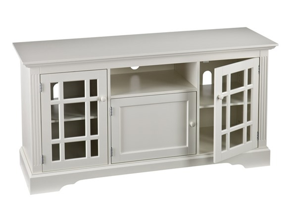 Sei cullerton tv media stand off white White media console