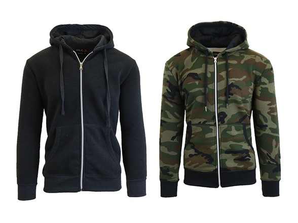 Fleece Zip Up Hoodie 2-Pack WT155139A