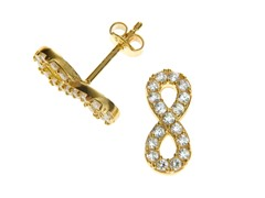 18kt Gold Plated Infinity Earrings