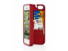 iPhone 5 Case w/Hinged Back - Red
