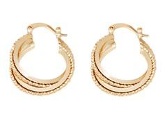 18k Plated Hoop Earring