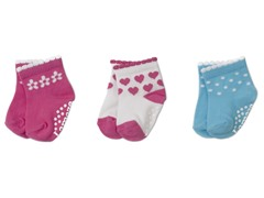 Girls Newborn 3-Pack of Socks
