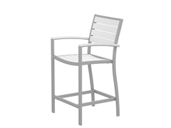 Euro Counter Chair, Silver/White