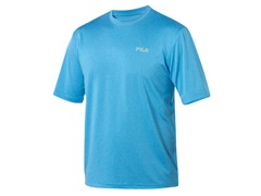 Fila Men's Blue Heathered Crew (M, 3XL)