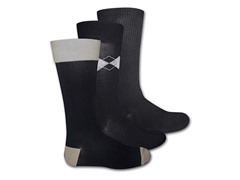 Muk Luks Men's 3 Pair Pack Crew Socks, Black