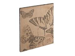 SEI Vintage Burlap Message Board - Butterfly
