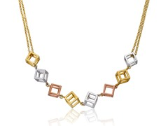 Riccova Country Chic 14K Gold Plated Double Strand Chain Necklace