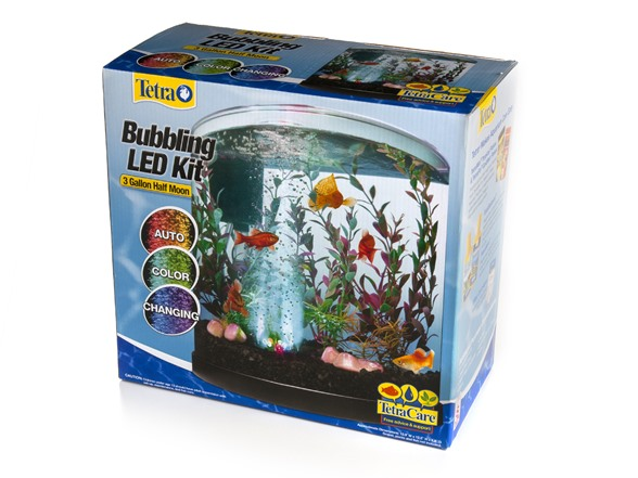 Fish & Aquariums Pet Supplies Tetra 3 Gallon Half Moon Fishtank In Many Styles