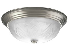 3-Light Close-To-Ceiling, Brushed Nickel