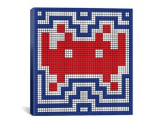 Patriotic Invader Tile Art 18x18 Thin
