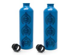 Gaiam Blue Tres Medallion Aluminum Bottle 2-Pack
