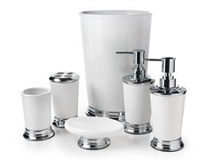 Henrey 6pc Bath Set- White