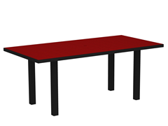 Euro Dining Table, Black/Sunset Red