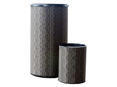 2Pc Round Hamper and Wastebasket