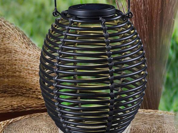 Design Craft Coil Solar Lantern Black Woot