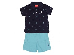 Navy Anchors 2-Piece Short Set (3M-12M)