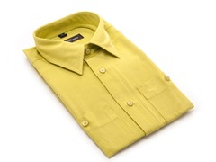 Oleg Cassini Men's Dress Shirt Yellow XXXL