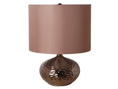 Catalina Plated Bronze Ceramic Table Lamp