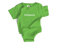"Wrybaby ""#fullpants""Green Bodysuit"