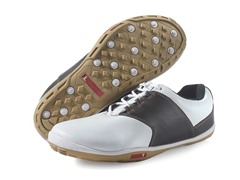 TRUE Linkswear Men's Shoe - White/Brown