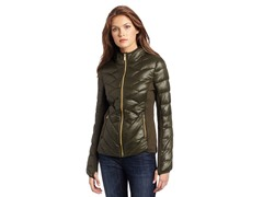 BCBG Reese Packable Down Jacket, Green