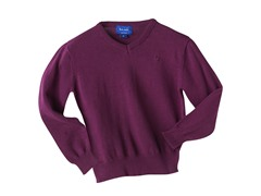 V-Neck Sweater - Eggplant (2T-7)