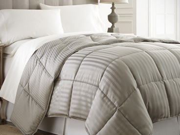 Striped Down Alternative Comforter