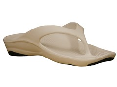 Women's Premium Flip Flop, Tan / Black
